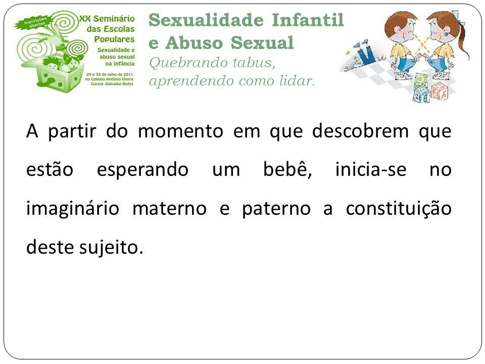 Sexualidade Infantil e Abuso Sexual Quebrando tabus, aprendendo como lidar. A partir do momento em que descobrem que estão esperando um bebê, inicia-s
