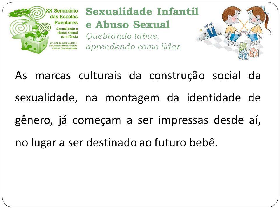 Sexualidade Infantil e Abuso Sexual Quebrando tabus, aprendendo como lidar. As marcas culturais da construção social da sexualidade, na montagem da id