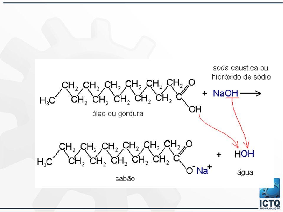 Detergentes:  Sais dos sulfatos de alquila, sulfonatos, fosfatos e sulfosuccinatos.