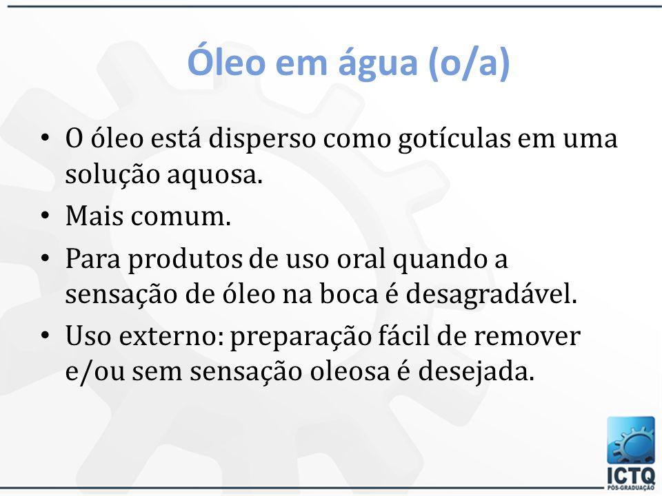 TIPOS DE EMULSÃO