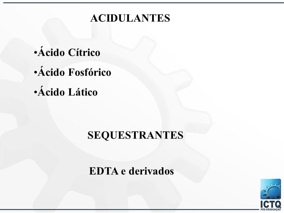 OPACIFICANTES Diestearato de Dietilenoglicol Monoestearato de Glicerila Álcoois Cetílico e Estearílico