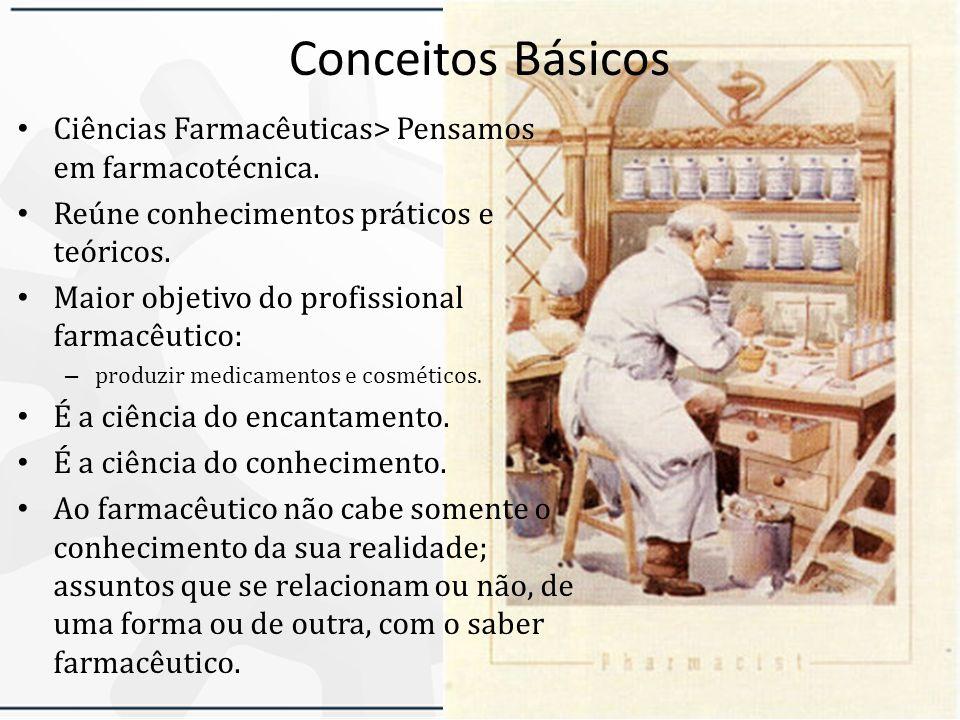 Conceitos Básicos Ciências Farmacêuticas> Pensamos em farmacotécnica.