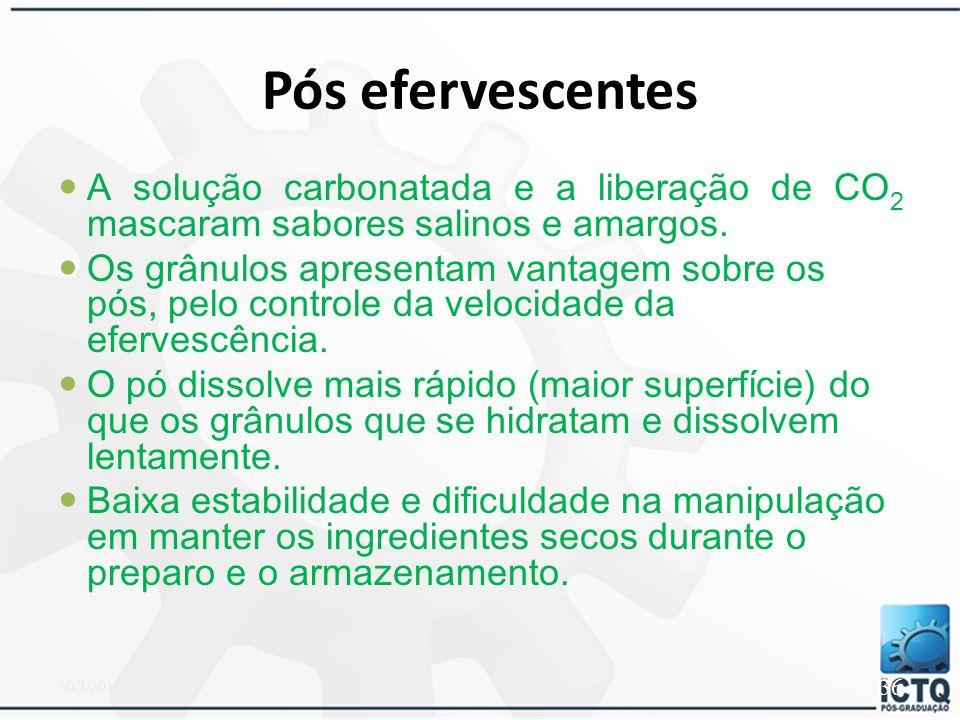 Pós ou grânulos efervescentes Misturas eflorescidas – ácido cítrico / ou ácido tartárico (ácidos) com bifosfato sódico e ou bicarbonato de sódio (base