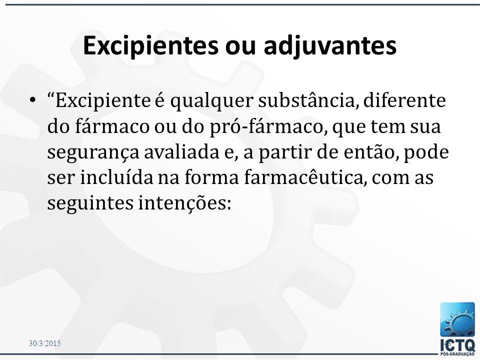Preenchimento É importante que o pó seja distribuído uniformemente, respeitando a granulometria, a espessura das partículas e a adição dos excipientes ou diluentes.