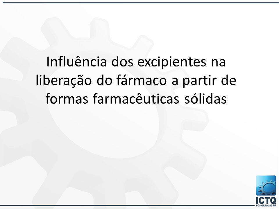 Excipientes ou adjuvantes Possibilitar a preparação do medicamento Proteger, fornecer ou melhorar a estabilidade e a disponibilidade biológica do fárm