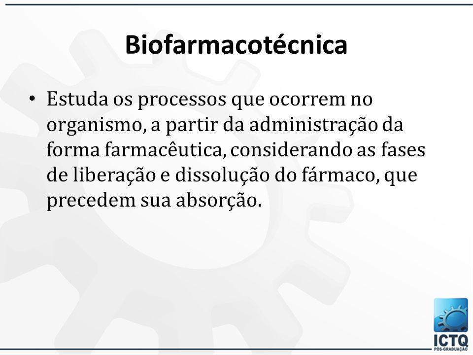 Biodisponibilidade Relaciona-se com a quantidade de fármaco que é absorvido e a velocidade na qual este processo ocorre