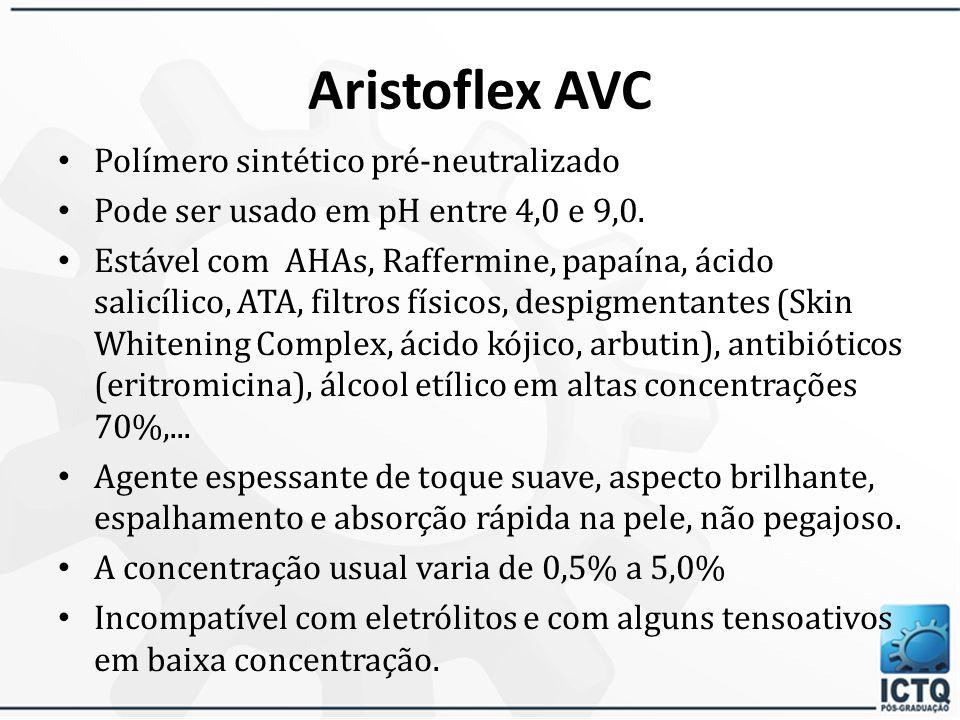 Fórmula orientativa Gel Aniônico 1% Carbopol 9401,0% EDTA dissódico0,1% Propilenoglicol5,0% Metilparabeno0,1% Propilparabeno0,05% Água purificada qsp