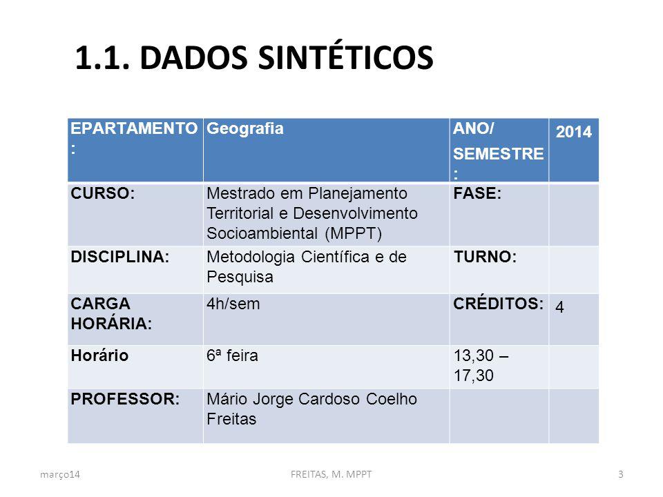 1.2.EMENTA Conceitos e temas em metodologia científica e da pesquisa.
