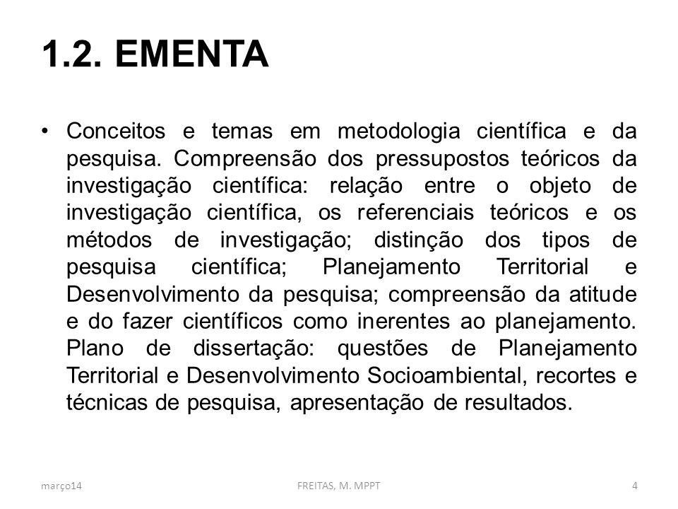 2. FINALIDADE, OBJETIVOS E COMPETÊNCIAS março14FREITAS, M. MPPT5