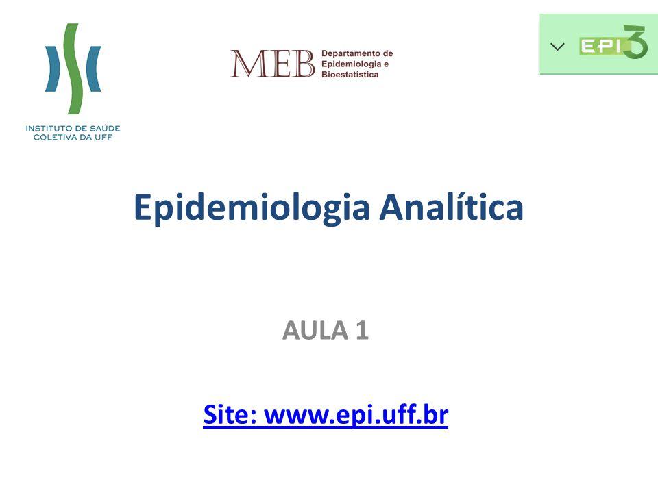 AULA 1 Site: www.epi.uff.br Epidemiologia Analítica
