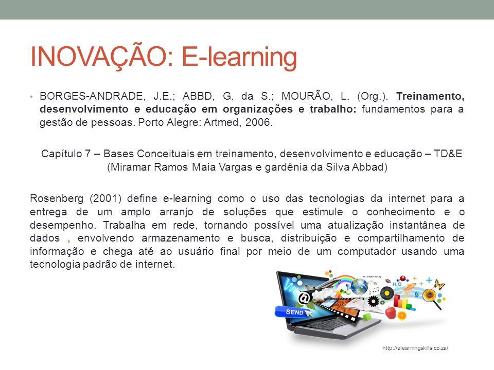 INOVAÇÃO: E-learning COSTA, E.; RIBAS, J.C.da C.; LUZ FILHO, S.