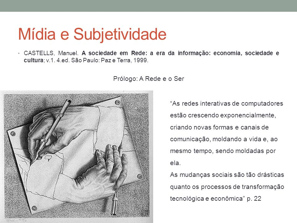 Mídia e Subjetividade CASTELLS, Manuel.