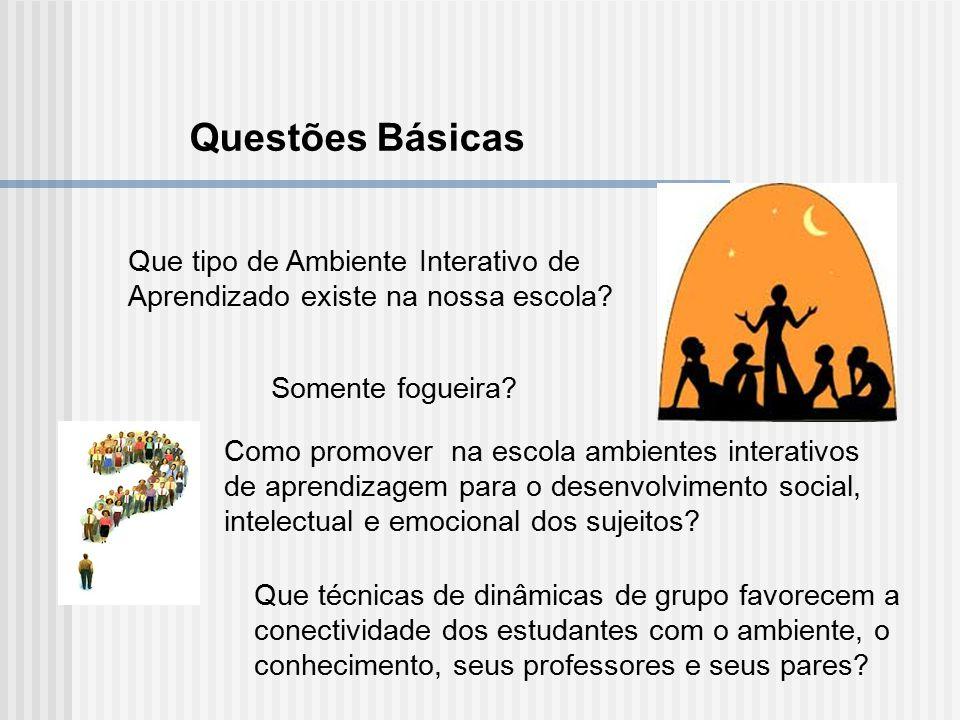 Que tipo de Ambiente Interativo de Aprendizado existe na nossa escola? Somente fogueira? Como promover na escola ambientes interativos de aprendizagem