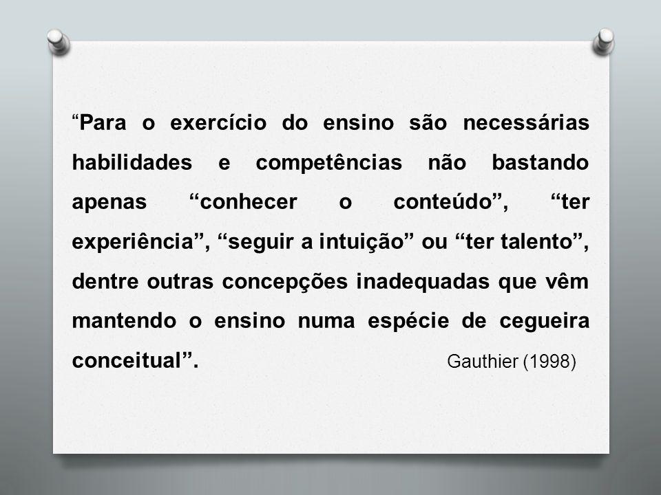 2.Conhecer e questionar o pensamento docente espontâneo 3.