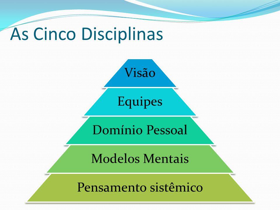 As Cinco Disciplinas Visão Equipes Domínio Pessoal Modelos Mentais Pensamento sistêmico