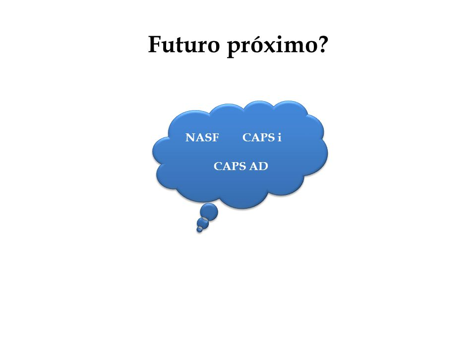 Futuro próximo? NASF CAPS i CAPS AD NASF CAPS i CAPS AD