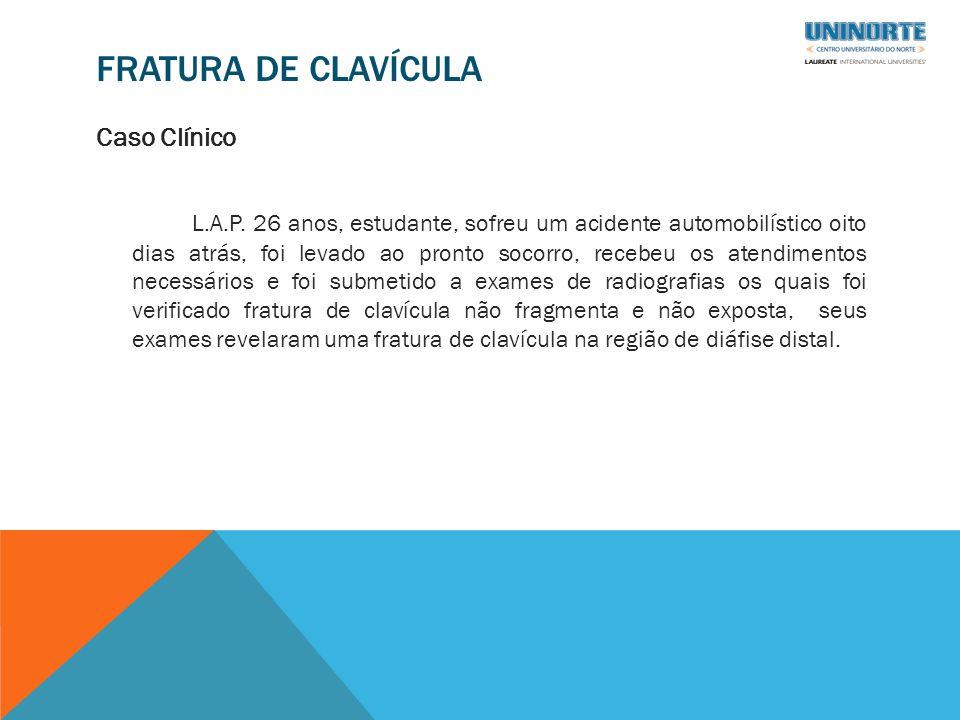 FRATURA DE CLAVÍCULA Caso Clínico L.A.P.