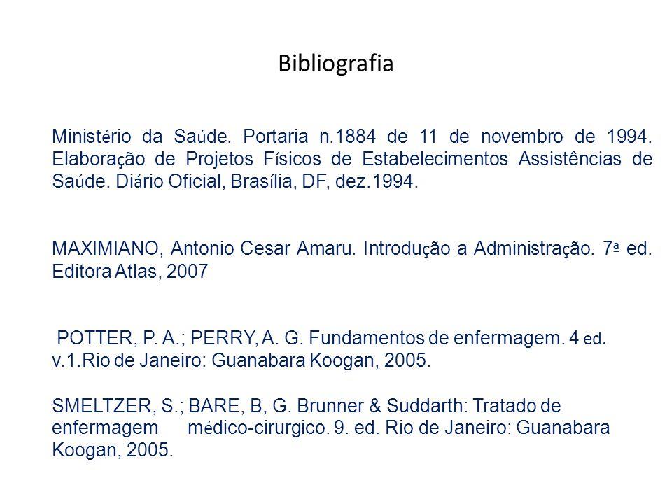 Minist é rio da Sa ú de. Portaria n.1884 de 11 de novembro de 1994. Elabora ç ão de Projetos F í sicos de Estabelecimentos Assistências de Sa ú de. Di