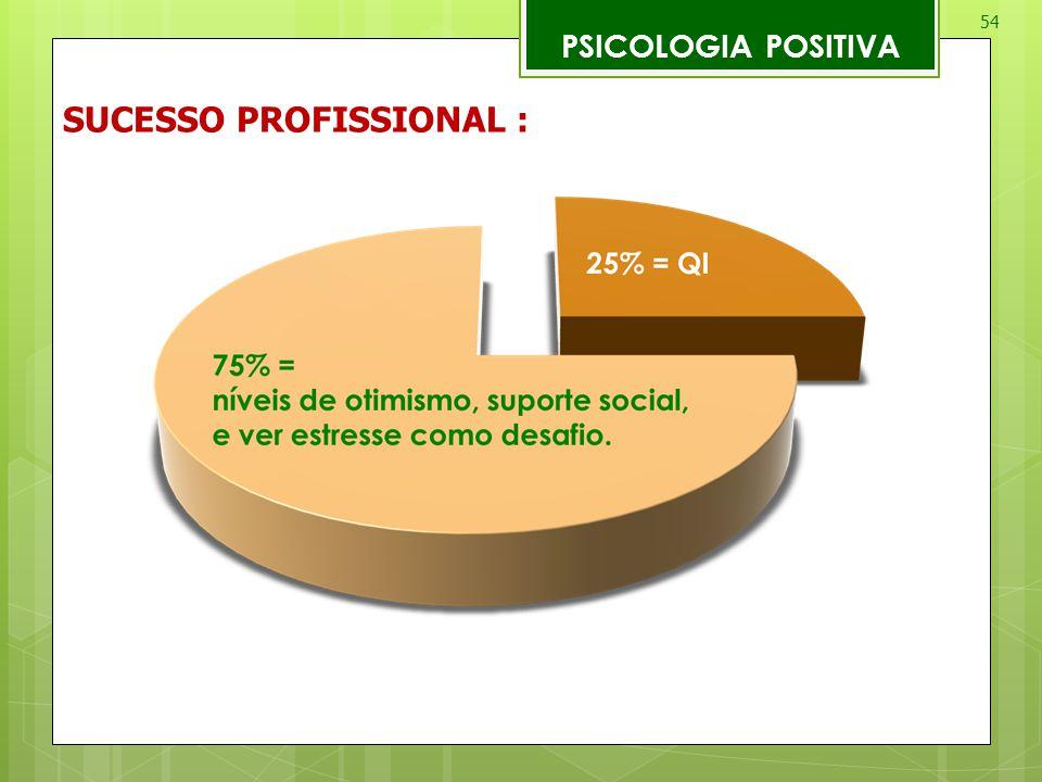 54 PSICOLOGIA POSITIVA SUCESSO PROFISSIONAL :