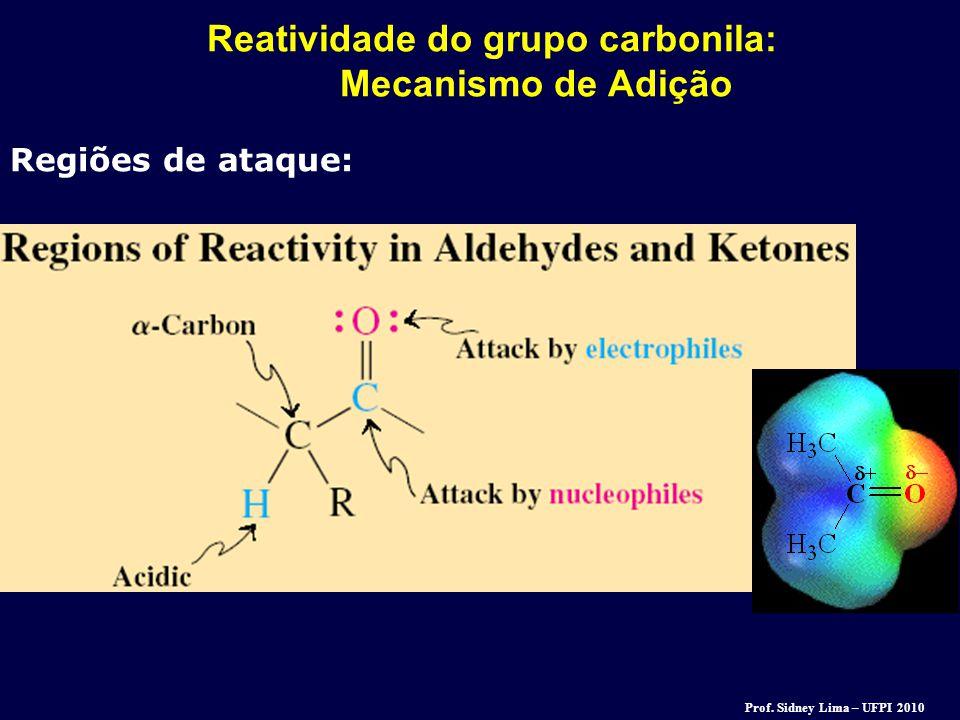 Reatividade do grupo carbonila: Mecanismo de Adição Regiões de ataque: Prof. Sidney Lima – UFPI 2010