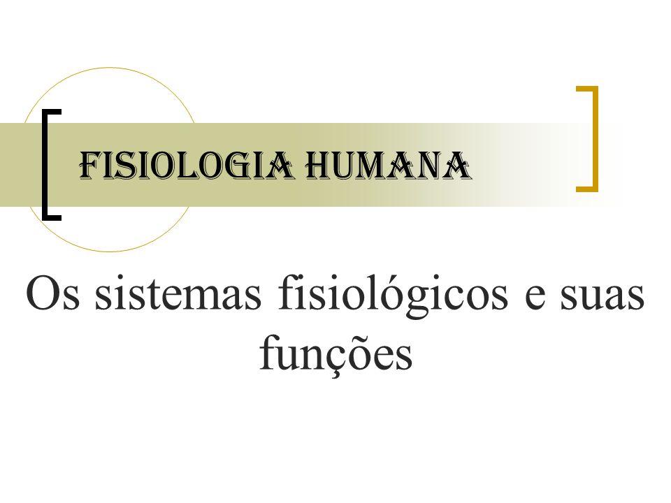 Fisiologia Humana Os sistemas fisiológicos e suas funções