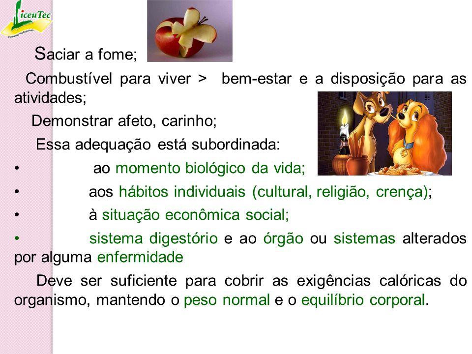 BASE DA PIRÂMIDE ALIMENTAR Composta por alimentos fontes de energia (Cereais, Tubérculos e Raízes).