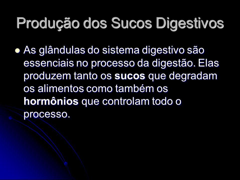 Produção dos Sucos Digestivos As glândulas do sistema digestivo são essenciais no processo da digestão. Elas produzem tanto os sucos que degradam os a