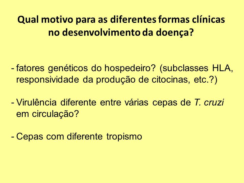 Qual motivo para as diferentes formas clínicas no desenvolvimento da doença.