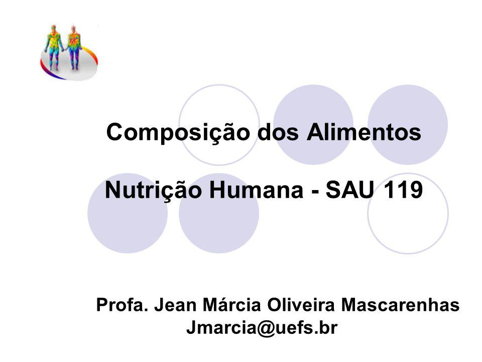 Composição dos Alimentos Nutrição Humana - SAU 119 Profa.