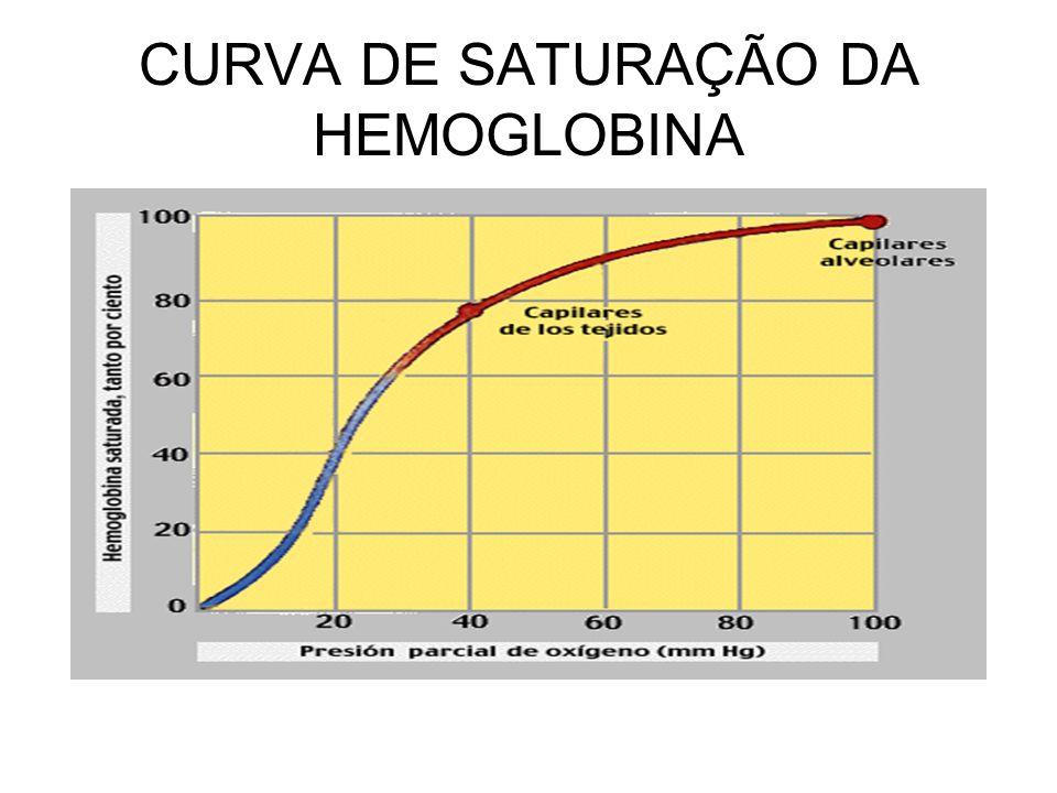 CURVA DE SATURAÇÃO DA HEMOGLOBINA