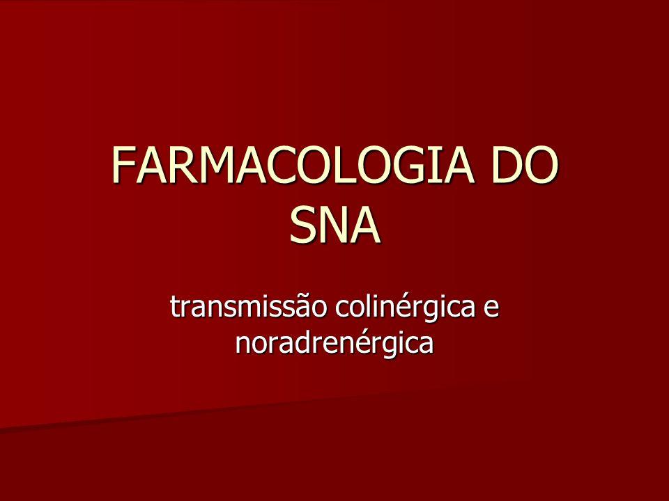 FARMACOLOGIA DO SNA transmissão colinérgica e noradrenérgica