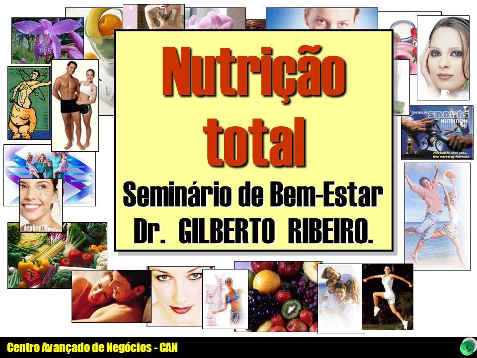 Centro Avançado de Negócios - CAN Nutrição total Seminário de Bem-Estar Dr. GILBERTO RIBEIRO. Nutrição total Seminário de Bem-Estar Dr. GILBERTO RIBEI