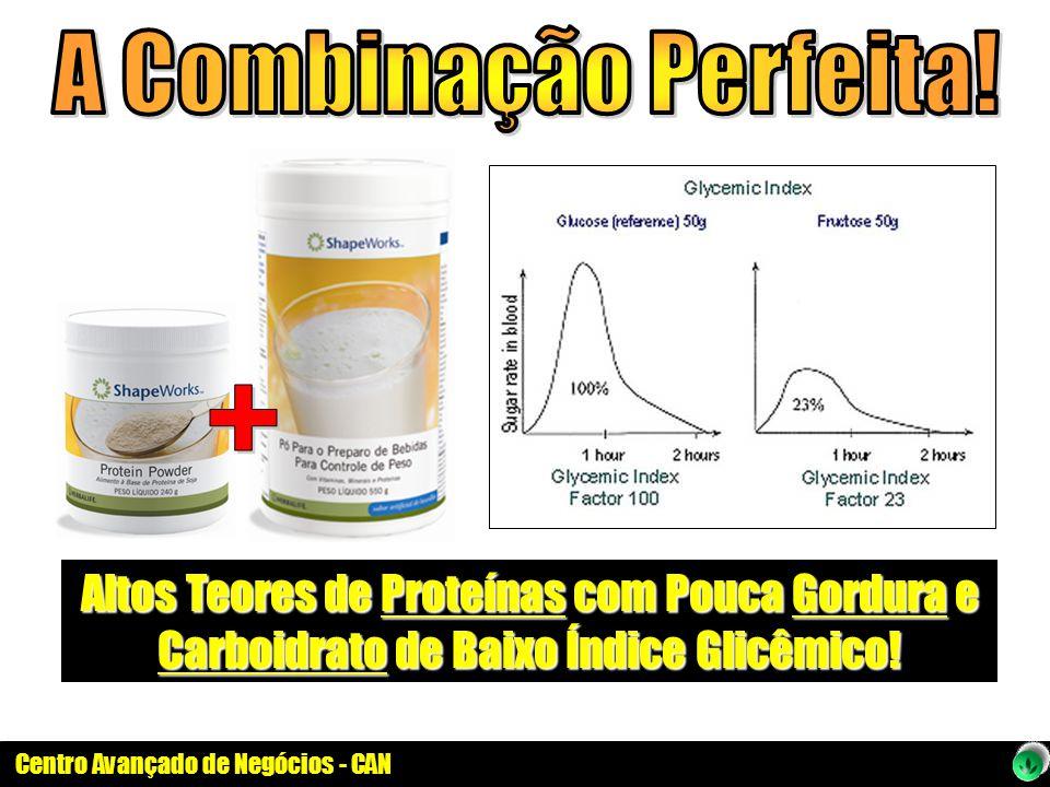 Altos Teores de Proteínas com Pouca Gordura e Carboidrato de Baixo Índice Glicêmico!