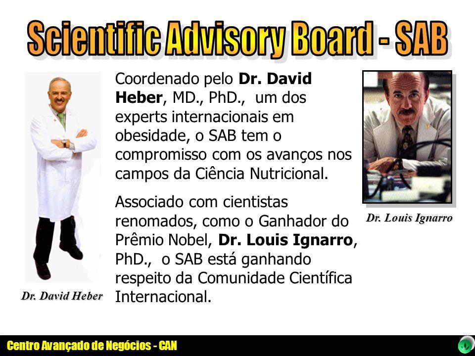 Centro Avançado de Negócios - CAN Coordenado pelo Dr. David Heber, MD., PhD., um dos experts internacionais em obesidade, o SAB tem o compromisso com