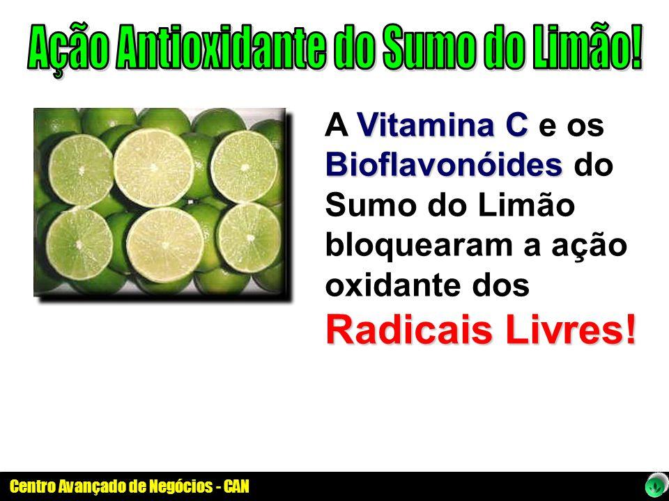 Vitamina C Bioflavonóides Radicais Livres! A Vitamina C e os Bioflavonóides do Sumo do Limão bloquearam a ação oxidante dos Radicais Livres!