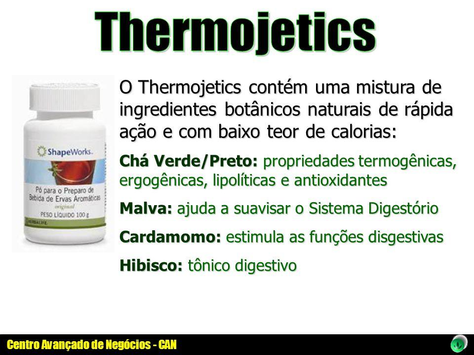 O Thermojetics contém uma mistura de ingredientes botânicos naturais de rápida ação e com baixo teor de calorias: Chá Verde/Preto: propriedades termog