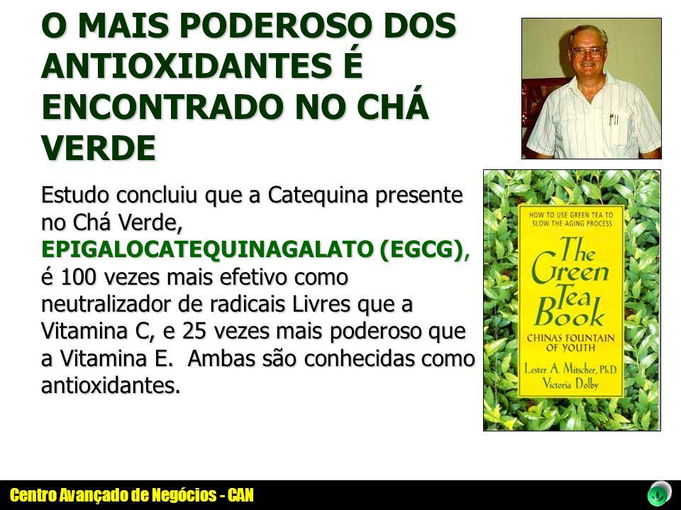 O MAIS PODEROSO DOS ANTIOXIDANTES É ENCONTRADO NO CHÁ VERDE Estudo concluiu que a Catequina presente no Chá Verde, EPIGALOCATEQUINAGALATO (EGCG), é 10