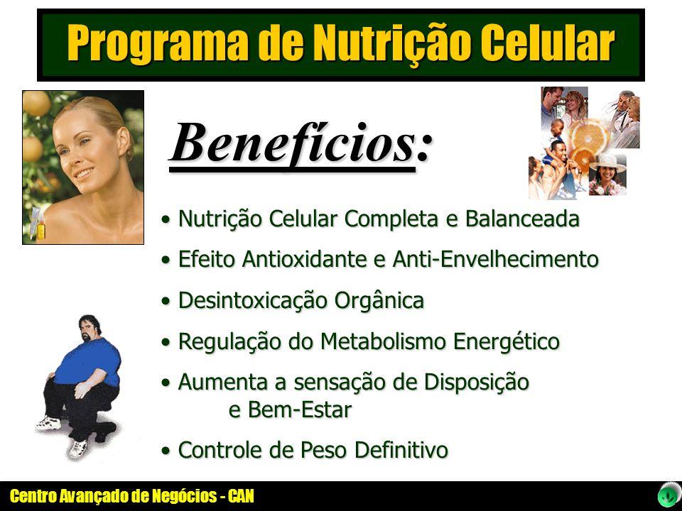 Centro Avançado de Negócios - CAN Nutrição Celular Completa e Balanceada Nutrição Celular Completa e Balanceada Efeito Antioxidante e Anti-Envelhecime