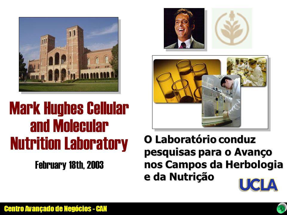 Centro Avançado de Negócios - CAN Mark Hughes Cellular and Molecular Nutrition Laboratory February 18th, 2003 O Laboratório conduz pesquisas para o Av