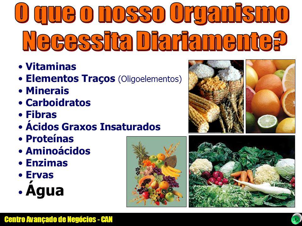 Vitaminas Elementos Traços (Oligoelementos) Minerais Carboidratos Fibras Ácidos Graxos Insaturados Proteínas Aminoácidos Enzimas Ervas Água