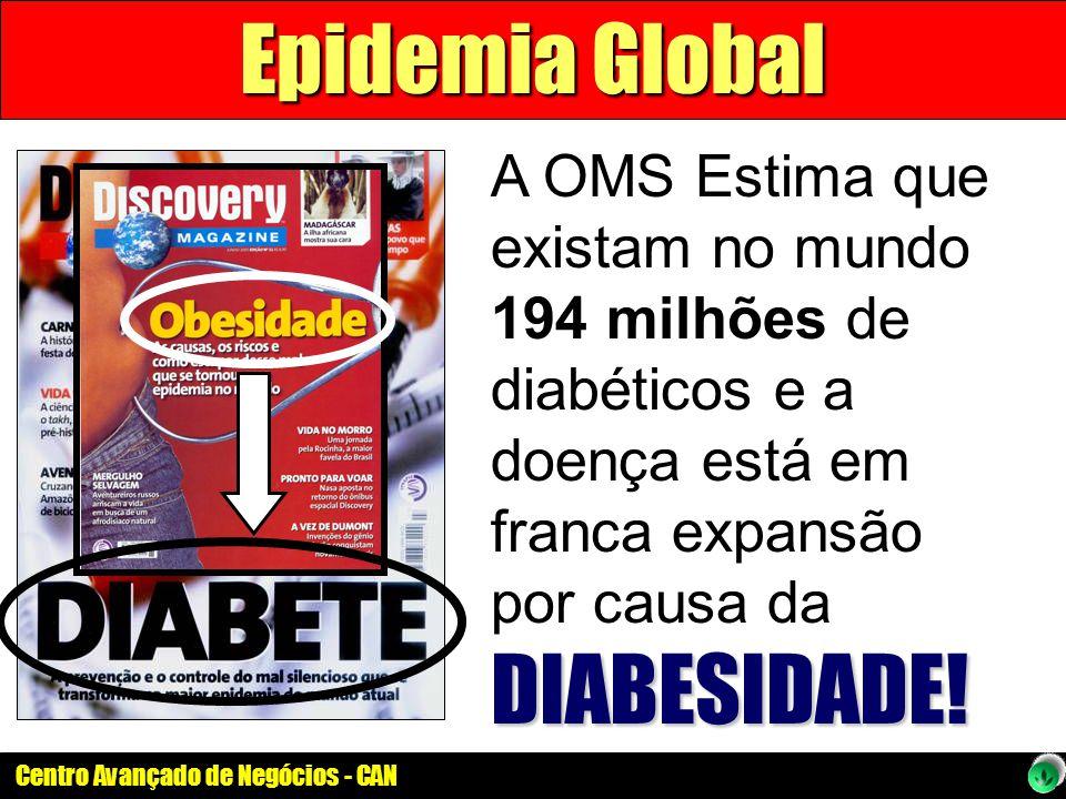 Centro Avançado de Negócios - CAN DIABESIDADE! A OMS Estima que existam no mundo 194 milhões de diabéticos e a doença está em franca expansão por caus