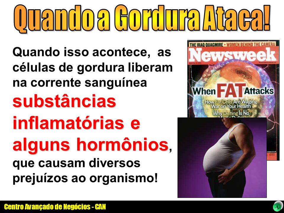 Centro Avançado de Negócios - CAN substâncias inflamatórias e alguns hormônios Quando isso acontece, as células de gordura liberam na corrente sanguín