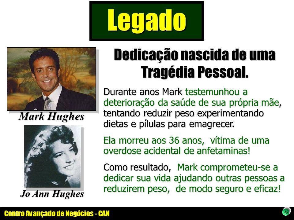 Centro Avançado de Negócios - CAN Jo Ann Hughes Mark Hughes Dedicação nascida de uma Tragédia Pessoal. Durante anos Mark testemunhou a deterioração da