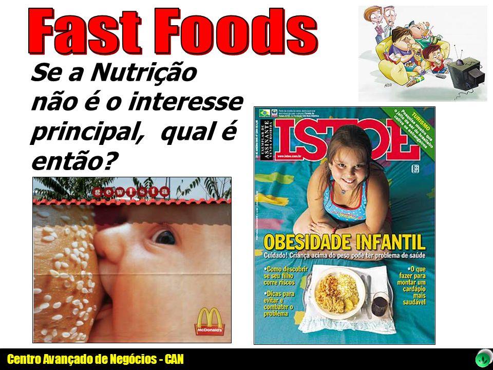 Se a Nutrição não é o interesse principal, qual é então?
