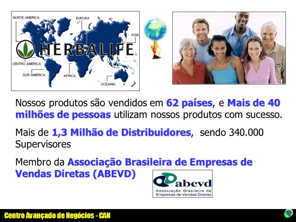 Centro Avançado de Negócios - CAN 62 paísesMais de 40 milhões de pessoas Nossos produtos são vendidos em 62 países, e Mais de 40 milhões de pessoas ut