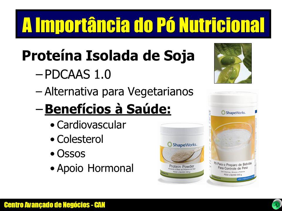 Centro Avançado de Negócios - CAN Proteína Isolada de Soja –PDCAAS 1.0 –Alternativa para Vegetarianos –Benefícios à Saúde: Cardiovascular Colesterol O