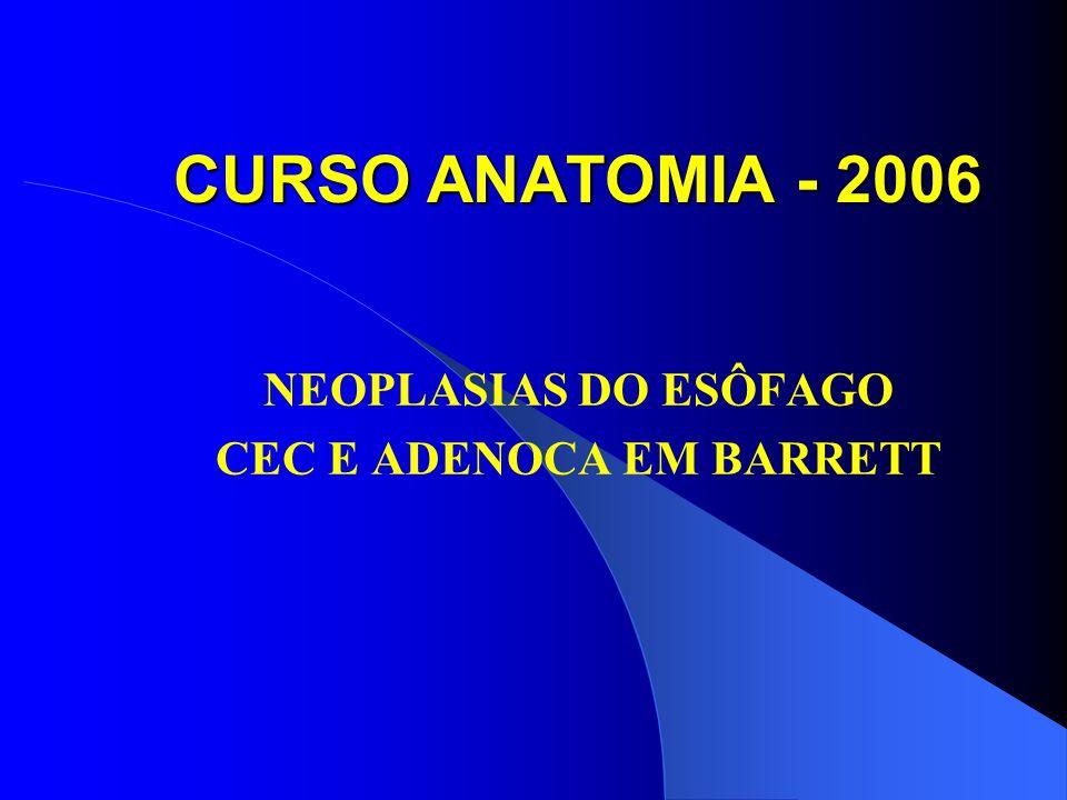 CURSO ANATOMIA - 2006 NEOPLASIAS DO ESÔFAGO CEC E ADENOCA EM BARRETT