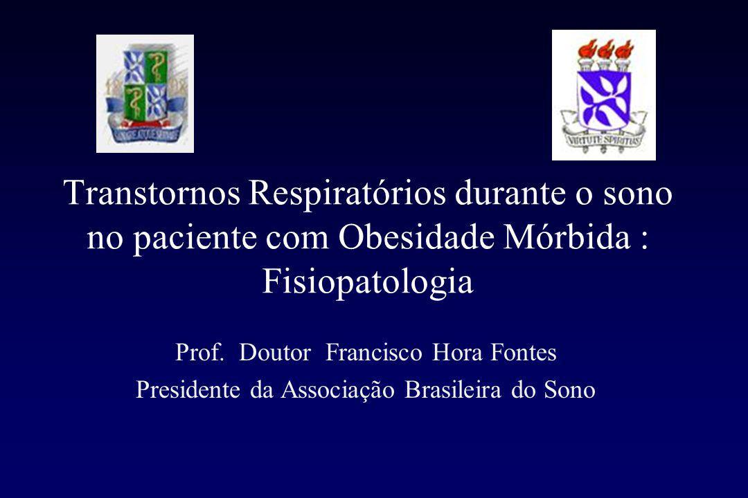 Transtornos Respiratórios durante o sono no paciente com Obesidade Mórbida : Fisiopatologia Prof.