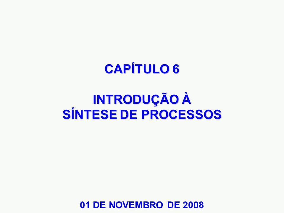 CAPÍTULO 6 INTRODUÇÃO À SÍNTESE DE PROCESSOS 01 DE NOVEMBRO DE 2008
