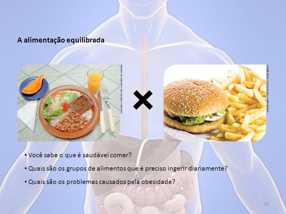 A alimentação equilibrada Você sabe o que é saudável comer.